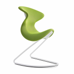 oyo the chair, wit frame, groene zitting, witte zitschaal